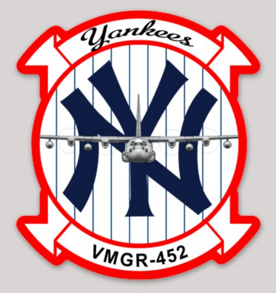 VMGR-452 New York Yankees Squadron Sticker