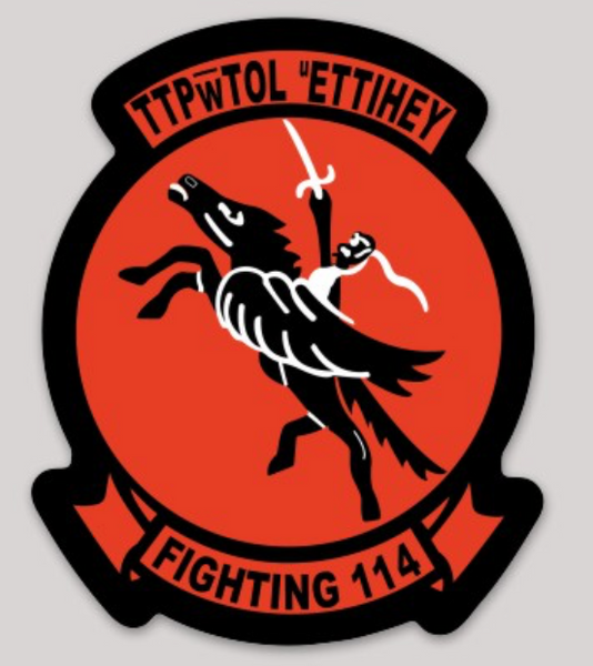 US Navy Official VA-114 Pegasus Sticker