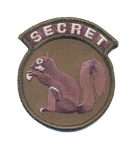 Secret Squirrel Patch - With Hook and Loop