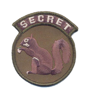 Secret Squirrel Patch - With Velcro