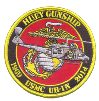 USMC UH-1N Huey Gunship Commemorative Patch- With Velcro