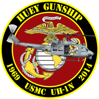 USMC UH-1N Huey Gunship Commemorative Sticker