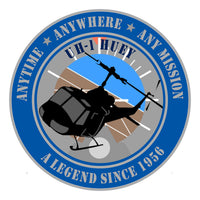 Full Color UH-1 Huey Sticker