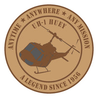 Desert Tan UH-1 Huey Sticker