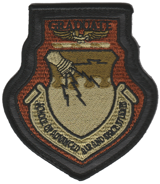 USAF School of Advance Air and Space Studies Graduat Patch- Wtih hook and loop
