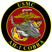 USMC AH-1 Cobra Commemorative Sticker
