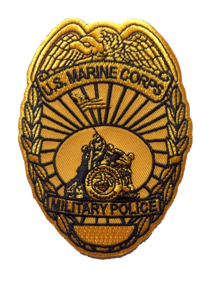 USMC Military Police badge patch- No hook and loop