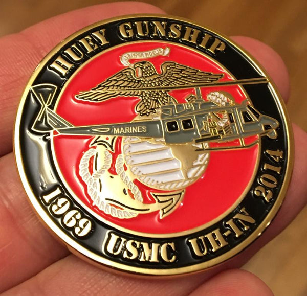 USMC UH-1N Huey Gunship Commemorative Coin