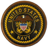 US Navy Officer Crest Leather Patches