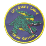 USS Essex Gator Patch- No Hook & Loop