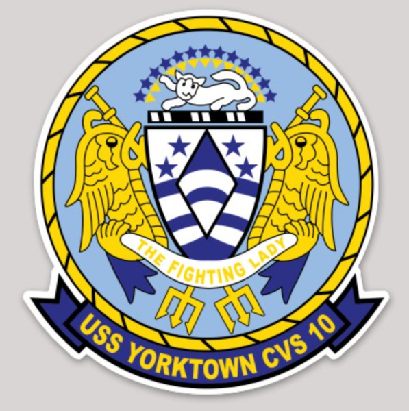 USS Yorktown CVS-10 sticker