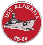 USS Alabama BB-60- No Hook and Loop