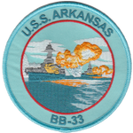 USS Arkansas BB-33- No Velcro