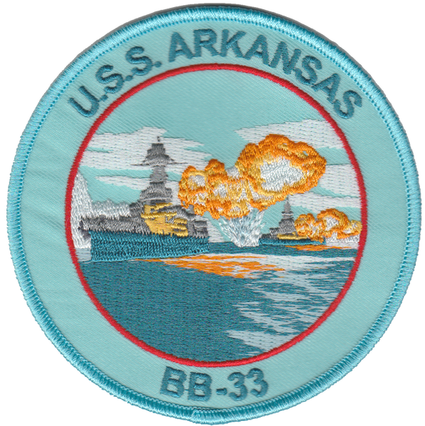 USS Arkansas BB-33- No Hook and Loop