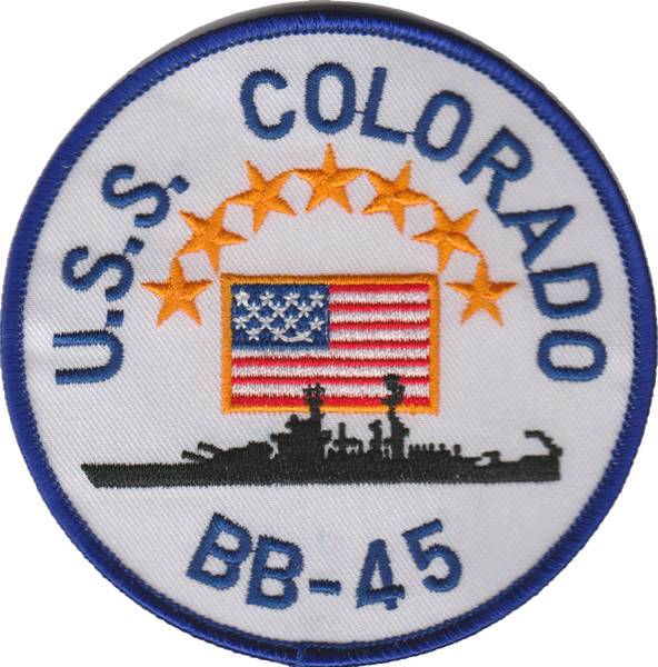 USS Colorado  BB-45- No Hook and Loop