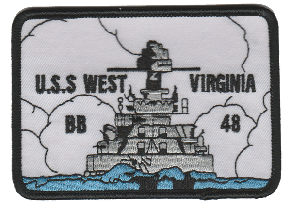 USS West Virginia BB-48- No Velcro