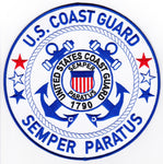 "US Coast Guard   8"" Large Embroidered Patch"