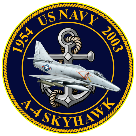 US Navy A-4 Skyhawk Commemorative Sticker