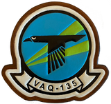VAQ-135 Black Ravens Leather Squadron Patches