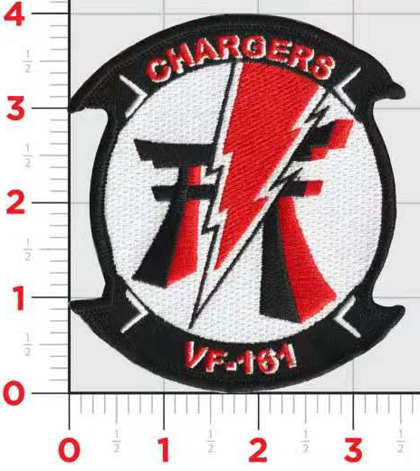 US Navy Official VF-161 Chargers- No Hook & Loop