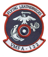 VMFA-122 Flying Leathernecks Squadron Patch- With Velcro