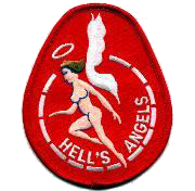 VMFA-321 Hells Angels Naked Angel, Red- No Velcro