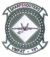 USMC VMFAT-101 Sharpshooters Squadron Patch- No Hook and Loop