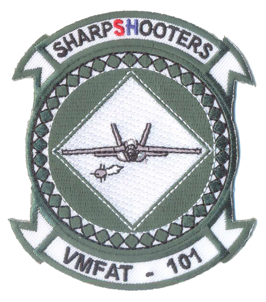 USMC VMFAT-101 Sharpshooters Squadron Patch- No Velcro