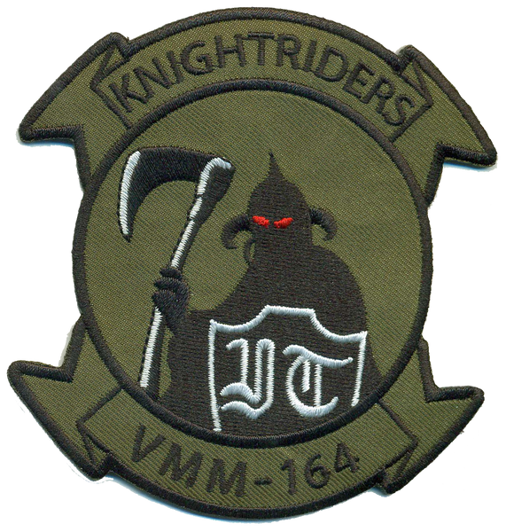 VMM-164 Knightriders white shield- No Velcro