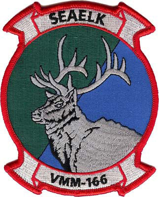 USMC VMM-166 Seaelk Squadron Patch- With Velcro