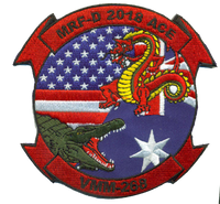 VMM-268 MRF-D ACE- Australian Squadron Patch- With Velcro