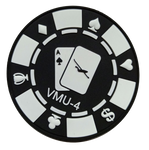 VMU-4 Evil Eyes Poker Chip PVC Patch- with Hook and Loop