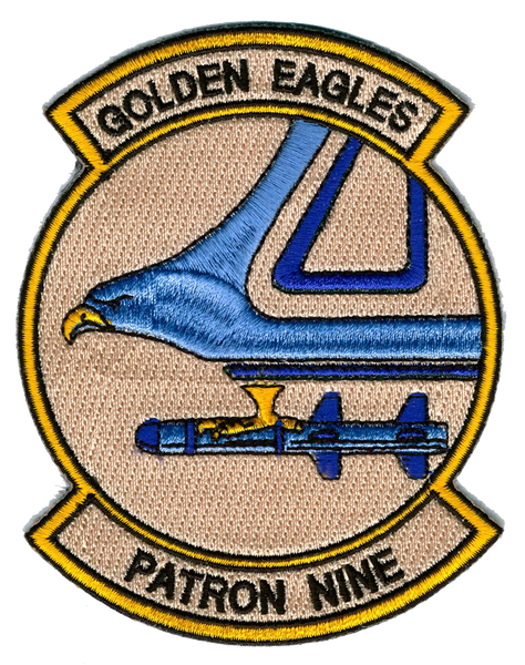 US Navy VP-9 Official Golden Eagles- No Hook and Loop