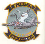 "US Navy A-4 Skyhawk ""Scooter Trouble Shooter"" Patch - No Velcro"