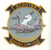 "US Navy A-4 Skyhawk ""Scooter Trouble Shooter"" Patch - No Hook and Loop"