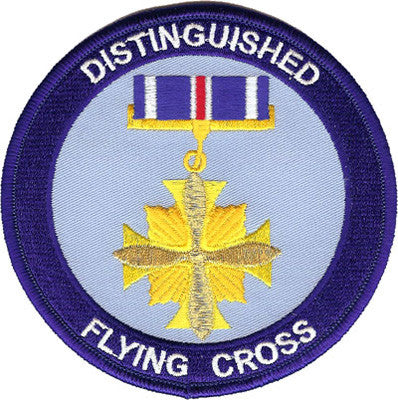 Distinguished Flying Cross Patch-No Hook and Loop