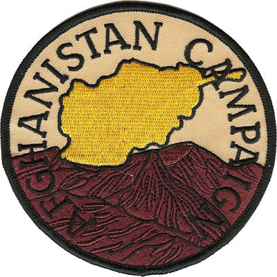 Afghanistan Campaign Patch- No Velcro