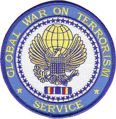 Global War On Terrorism Service-No Hook and Loop