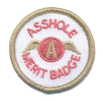 A**hole Merit Badge-No Hook and Loop