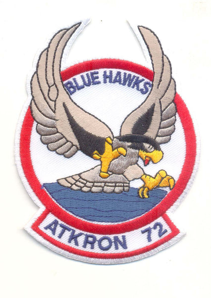 Official US Navy VA-72 Blue Hawks- No Hook and Loop