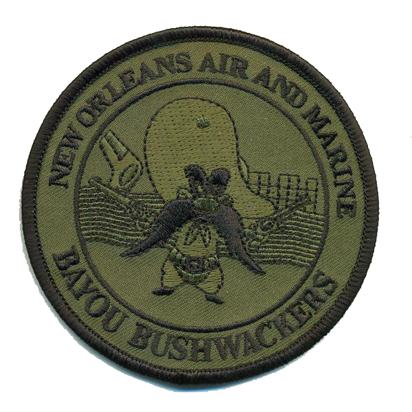 CBP New Orleans Air Branch Bayou Bushwackers GTAC OD green Patch-With Hook and Loop