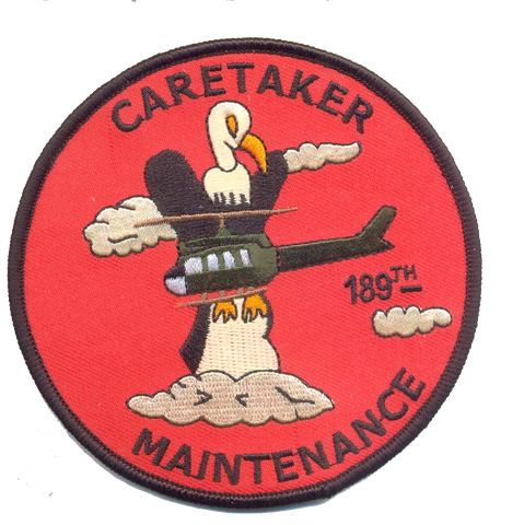 189th Caretaker Maintenance- Vietnam  No Velcro