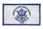 US Coast Guard Ball Cap Patch- With Hook and Loop