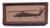 Desert Subdued UH-60 Blackhawk Tab Patch-With Velcro