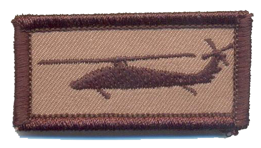 Desert Subdued UH-60 Blackhawk Tab Patch-With Hook and Loop