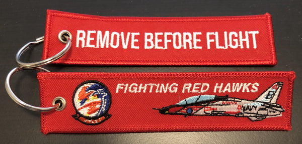 VT-21 Redhawks Remove Before Flight Key Ring