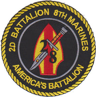 2nd Bn 8th Marines America's Battalion-No Hook and Loop