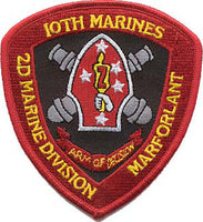10th Marines 2nd MARDIV-No Velcro
