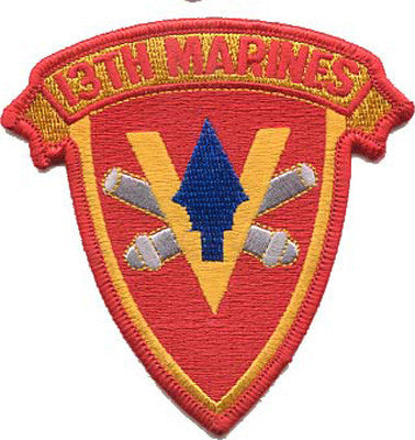 13th Marines-No Hook and Loop