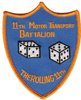 11th Motor Transport Bn-No Hook and Loop